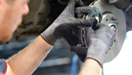 Don't let the first sign of bad pads be a blown stop sign. Let us tell you when to replace brake pads before there's an issue