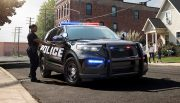 The 2020 Ford Police Interceptor comes with an all-new hybrid drivetrain as standard. That helps make blue a little more green.