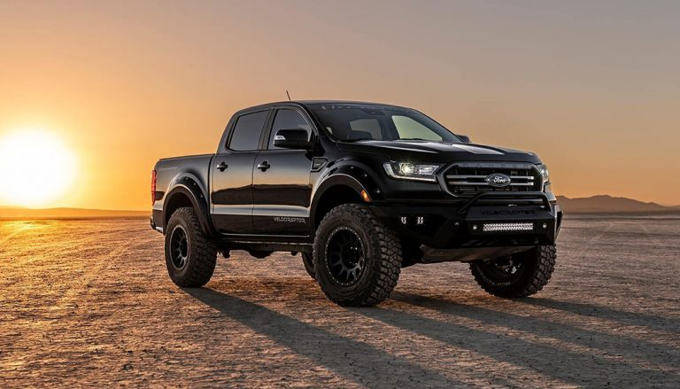 Texas tuner Hennessey Performance Engineering releases a 360 hp mini-Raptor Velociraptor Ranger on the compact truck world