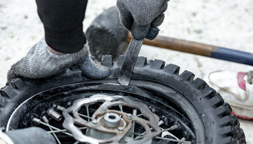 If you've had a bike long, you've probably noticed that those tiny tires wear at a huge rate. So we help you learn how to change a motorcycle tire.