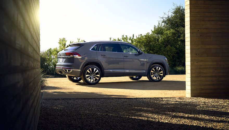 The Volkswagen Atlas Cross Sport trims the roof of the Atlas to remove the third row but add more style and a more premium inside